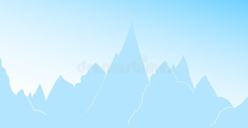 Bandeira do vetor com montanhas ilustração do vetor