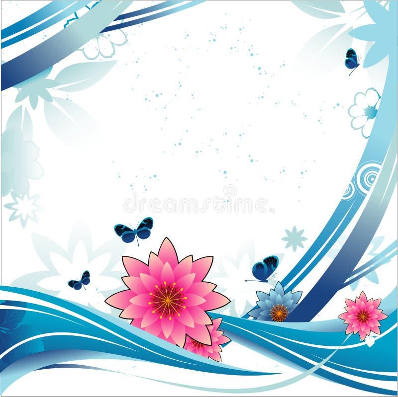 Bandeira do vetor da flor ilustração do vetor