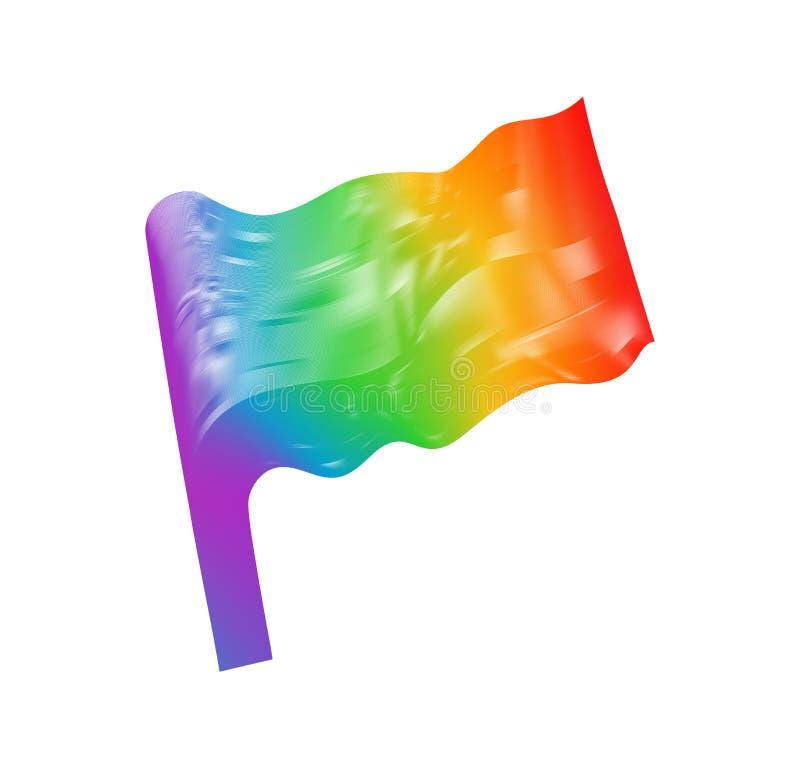 Bandeira do vetor das cores do arco-íris ilustração do vetor