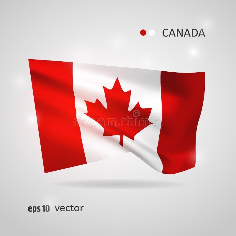 Bandeira do vetor de Canadá ilustração do vetor