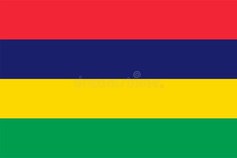 Bandeira do vetor de Maurícias 2:3 da propor??o Bandeira nacional maurícia Republic of Mauritius ilustração do vetor