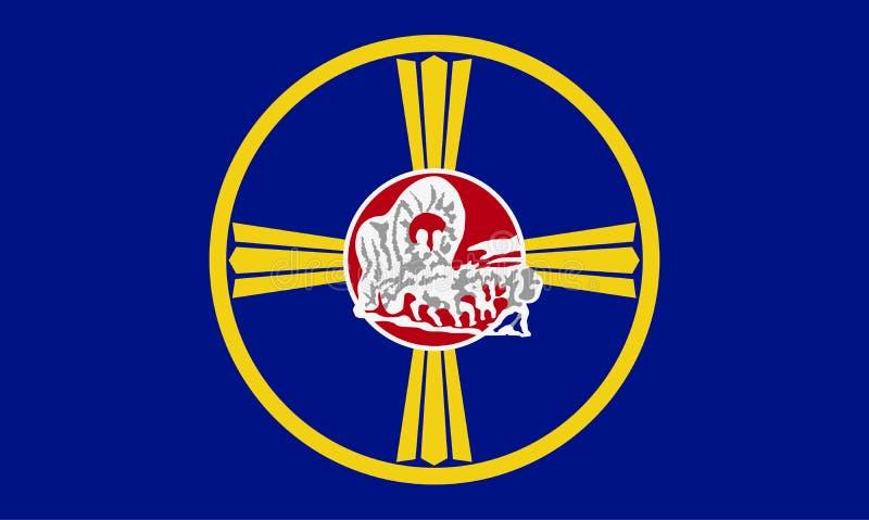 Bandeira do vetor de Omaha, Nebraska, Estados Unidos da América ilustração do vetor