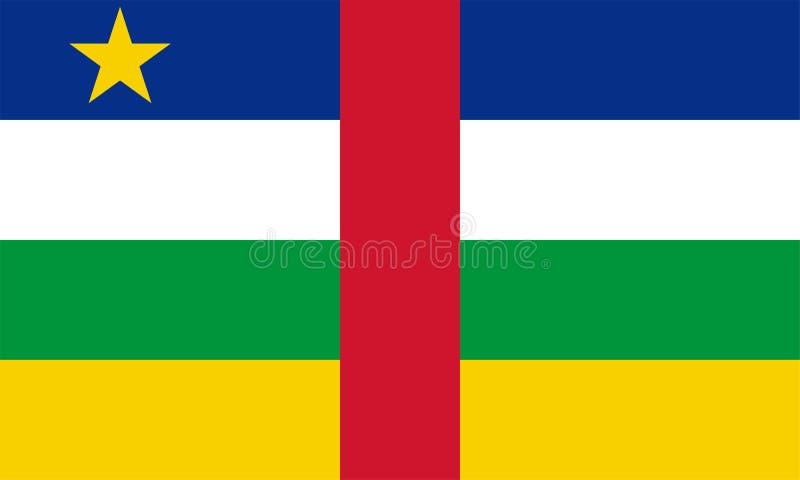Bandeira do vetor de República Centro-Africana 3:5 da propor??o Bandeira nacional da África Central ilustração stock