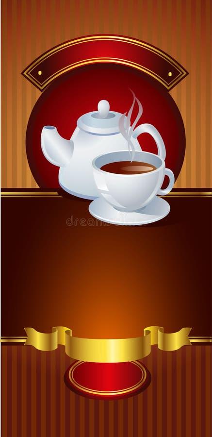 Bandeira do vetor do café ilustração do vetor