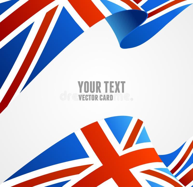 Bandeira do vetor do Reino Unido Beira fotos de stock