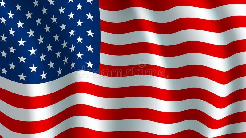 Bandeira do vetor dos EUA Símbolo nacional americano ilustração royalty free
