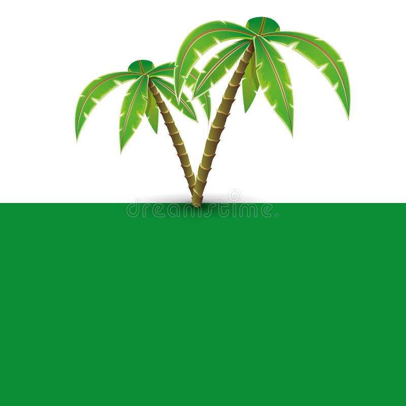 Bandeira do vetor Paisagem tropical ilustração royalty free