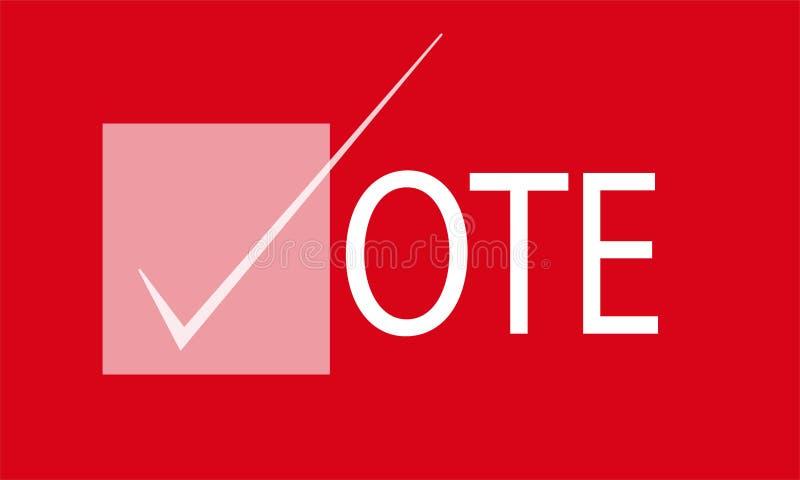 Bandeira do voto da eleição ilustração royalty free