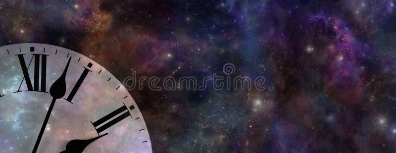 Bandeira do Web site do tempo e do espaço fotografia de stock royalty free
