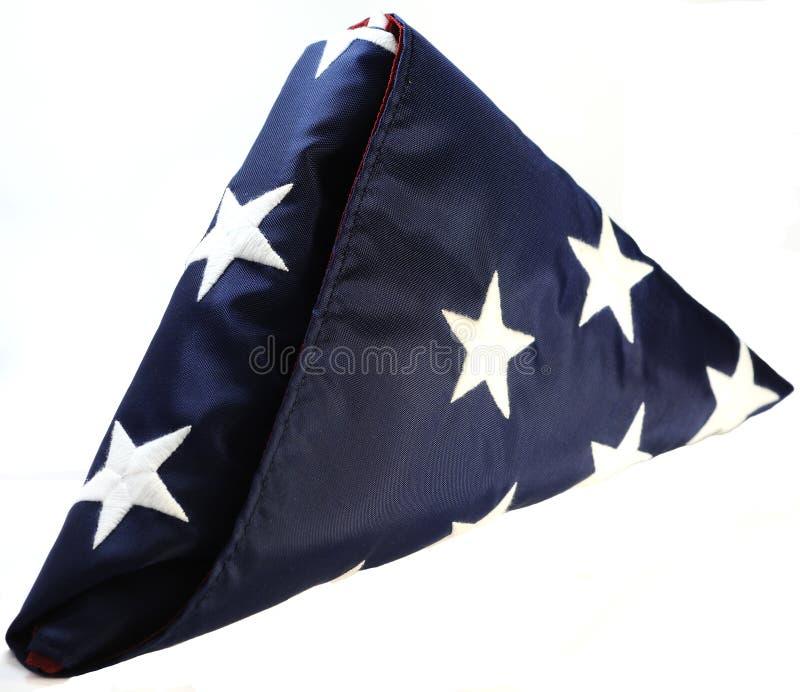 Bandeira dobrada dos E.U. imagem de stock
