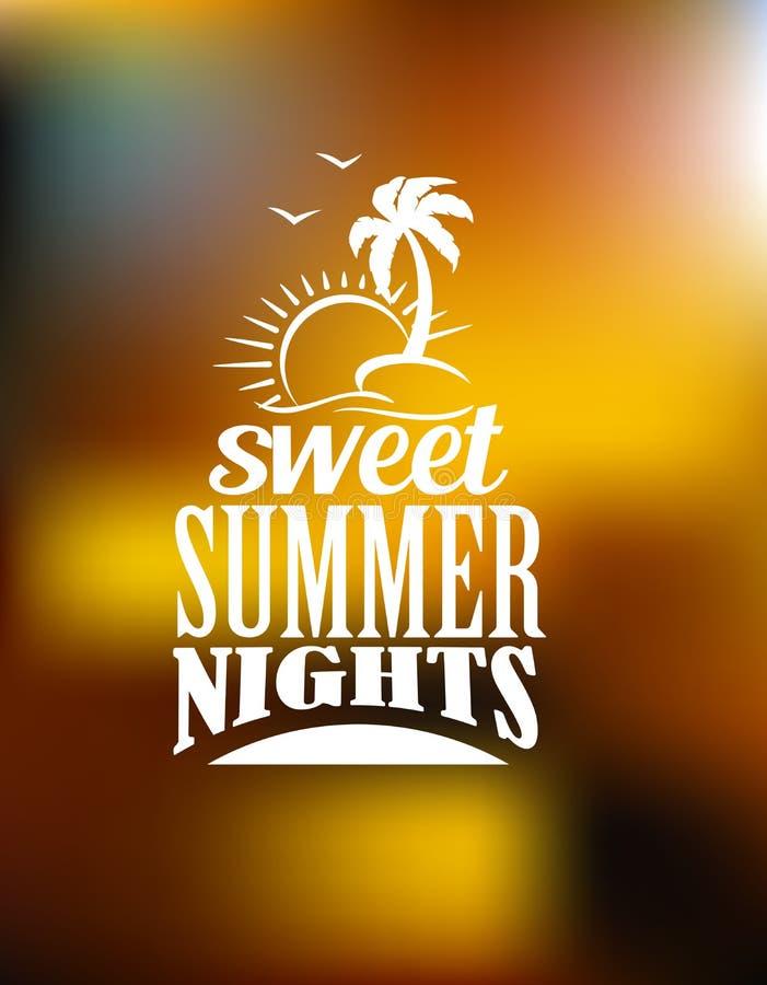 Bandeira doce das noites de verão ilustração royalty free