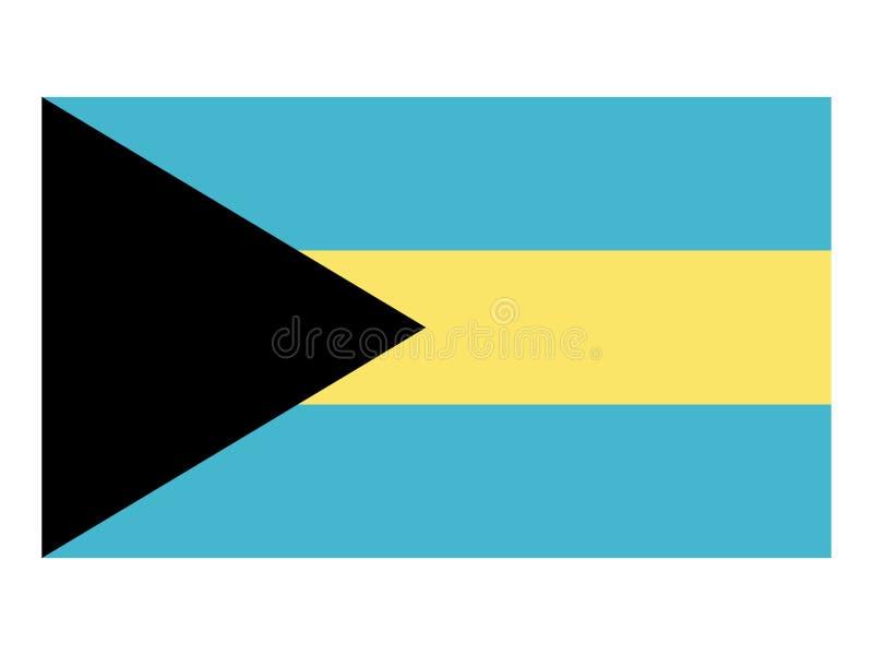 Bandeira dos Bahamas ilustração do vetor
