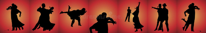 Bandeira dos dançarinos do tango ilustração stock