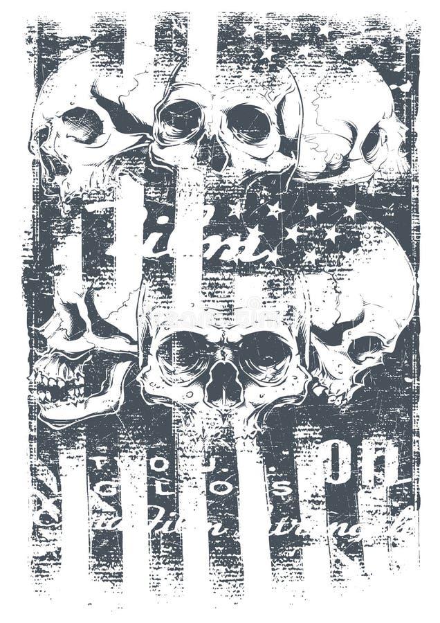 Bandeira dos E.U. ilustração do vetor
