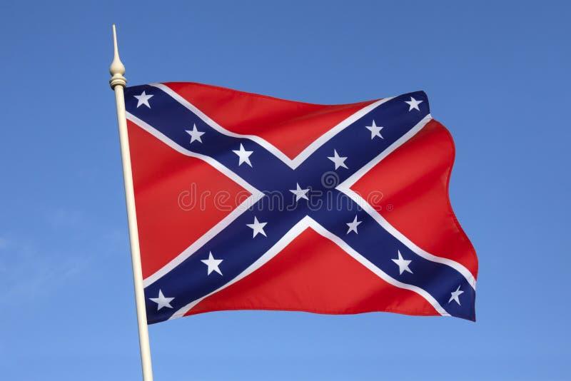 Bandeira dos estados de América confederados imagens de stock royalty free