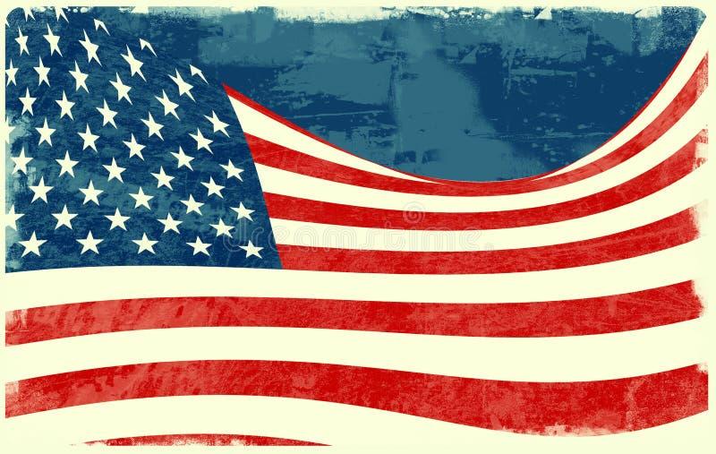 Bandeira dos Estados Unidos ilustração stock