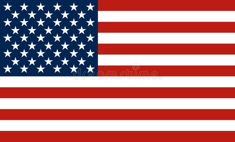 Bandeira dos EUA ilustração do vetor
