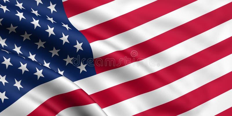 Bandeira dos EUA ilustração stock