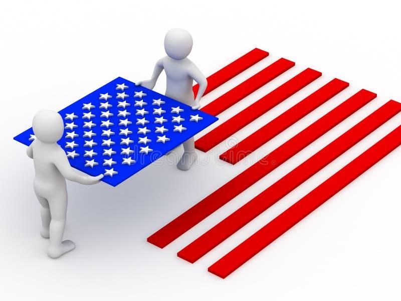 Bandeira dos EUA. ilustração royalty free