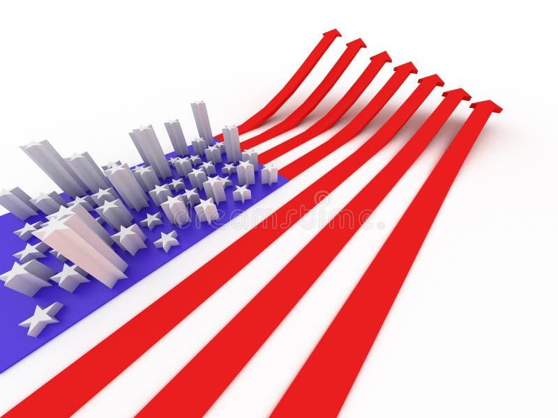 A bandeira dos EUA ilustração stock