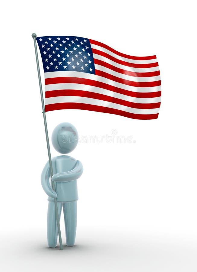 Bandeira dos EUA ilustração royalty free