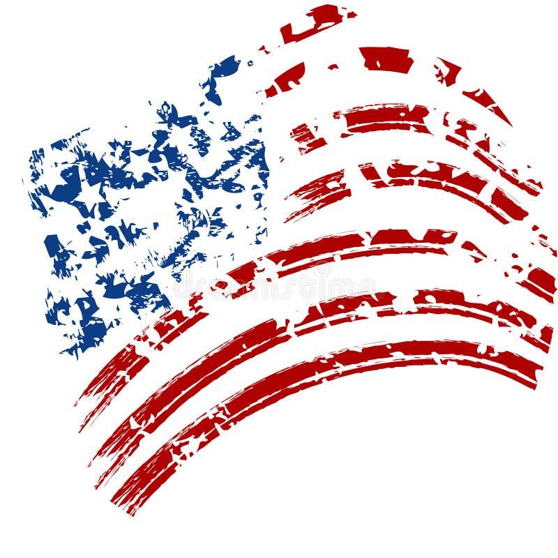 Bandeira dos EUA do Grunge ilustração do vetor