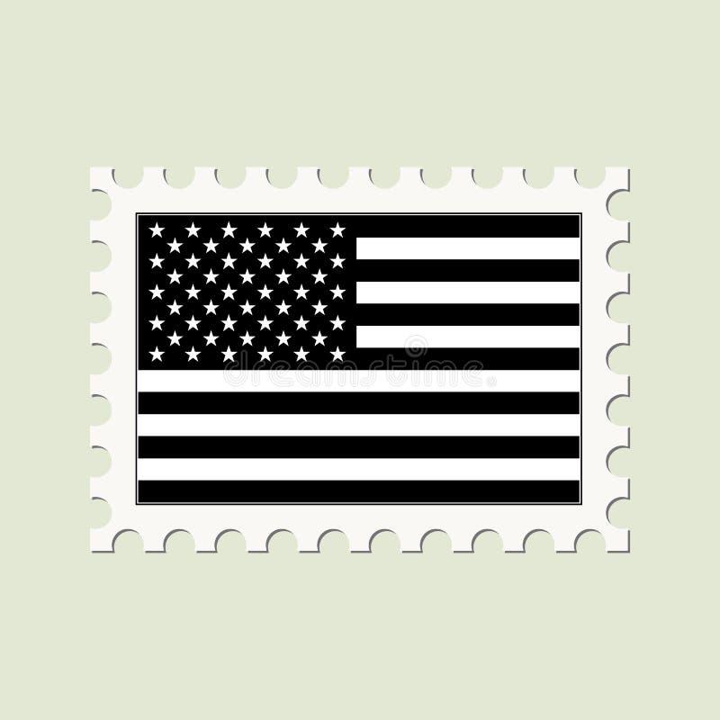 Bandeira dos EUA do vetor ilustração do vetor