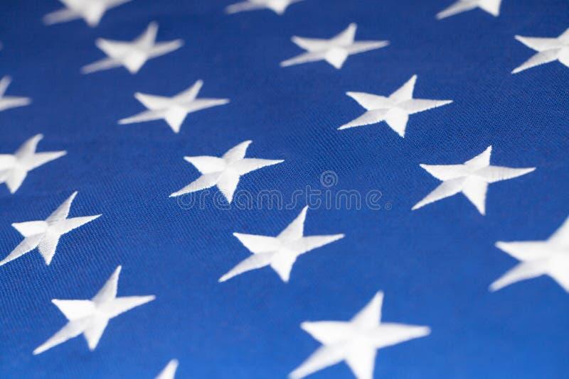 A bandeira dos EUA stars a fatura do teste padrão - tiro do estúdio fotos de stock