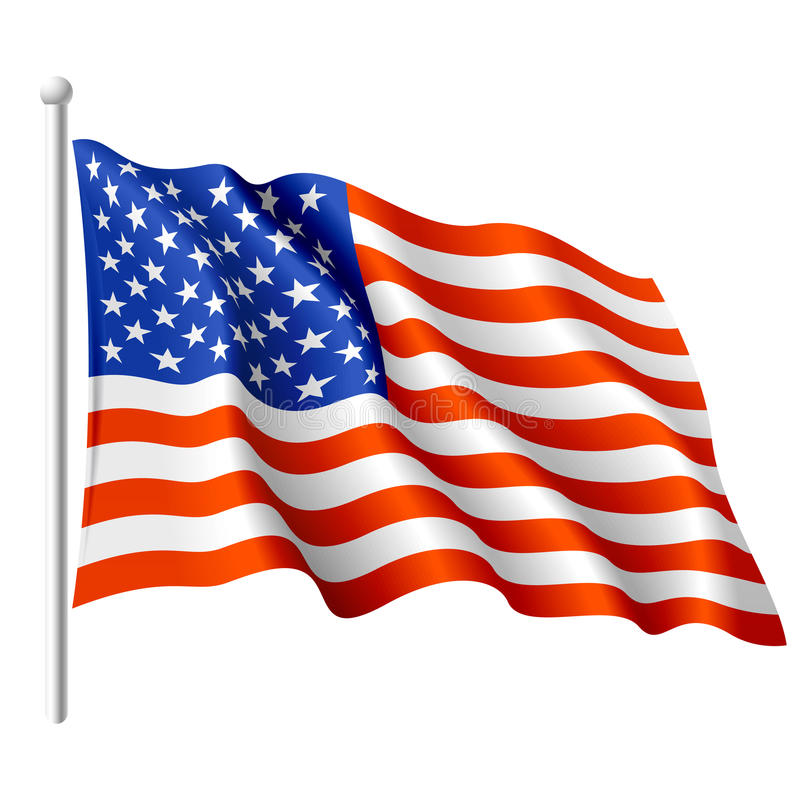 Bandeira dos EUA. Vetor.