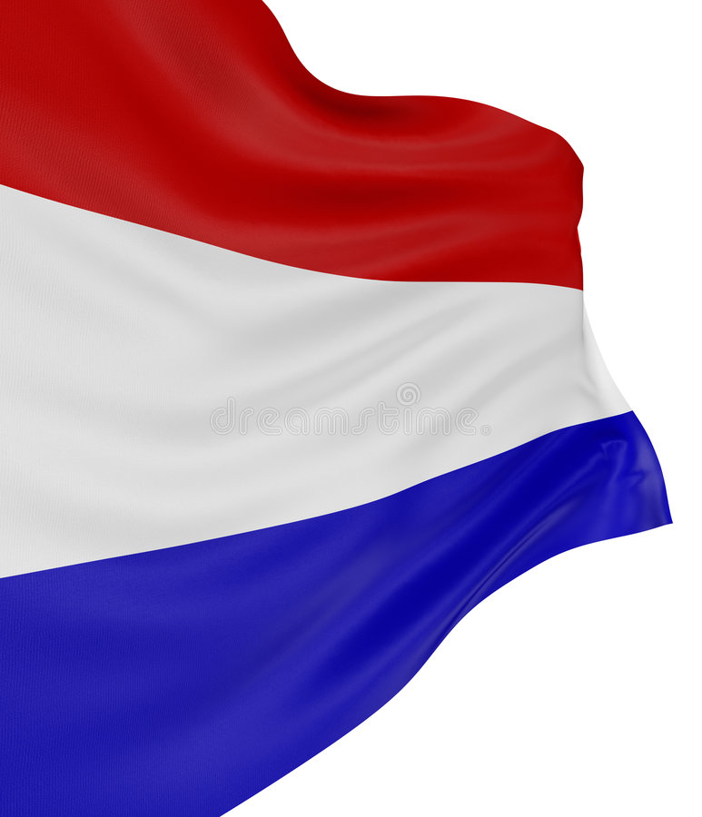 bandeira dos Países Baixos 3D ilustração stock