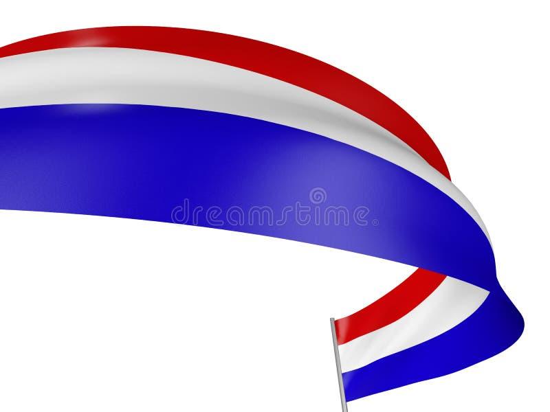 bandeira dos Países Baixos 3D ilustração royalty free