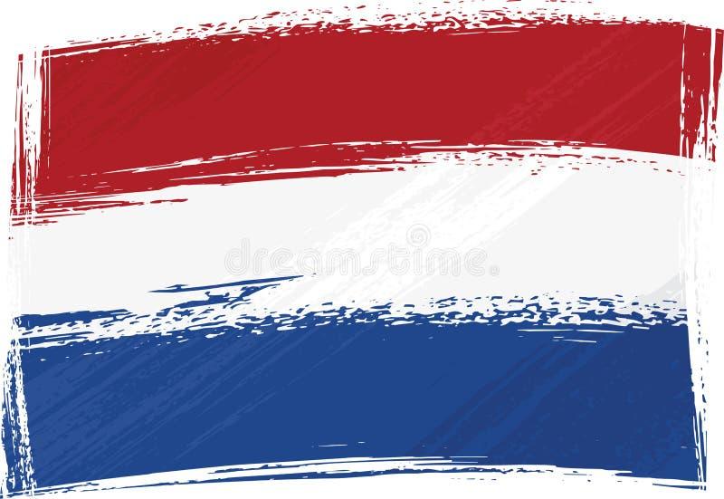Bandeira dos Países Baixos de Grunge ilustração do vetor