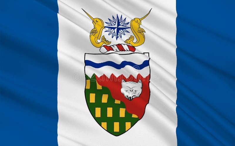 Bandeira dos territórios do noroeste, Canadá ilustração royalty free