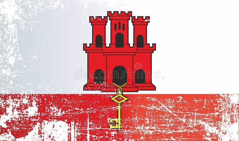Bandeira dos territórios ultramarinos britânicos Gibraltar imagens de stock royalty free