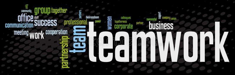 Bandeira dos trabalhos de equipa do negócio ilustração do vetor