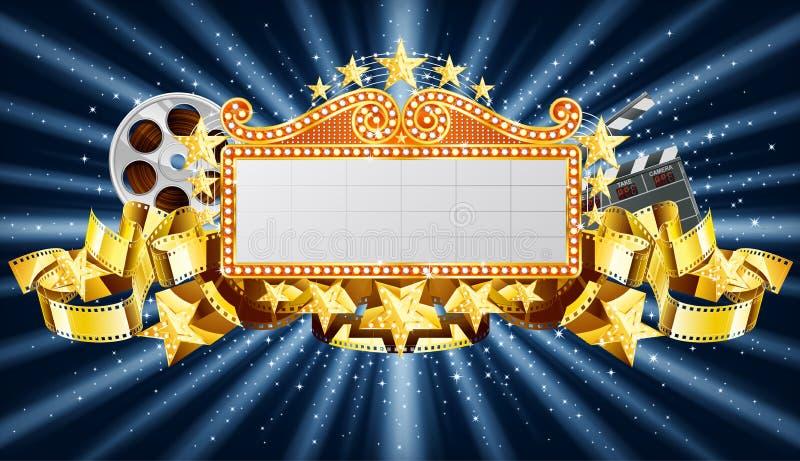 Bandeira dourada ilustração do vetor