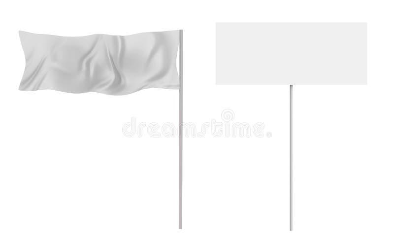 Bandeira e bandeira ilustração royalty free