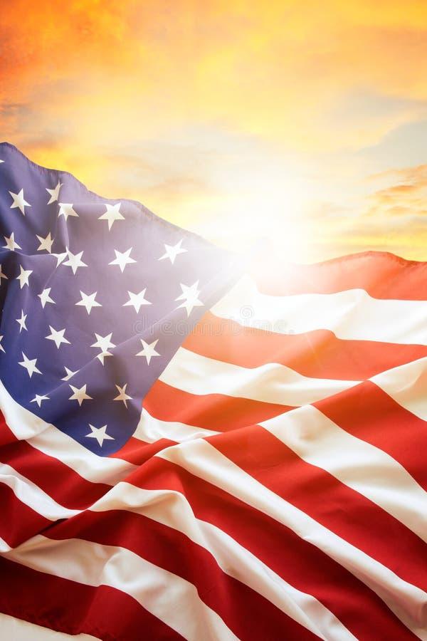 Bandeira e céu foto de stock royalty free