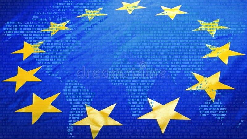 Bandeira e mapa do mundo da UE fotos de stock