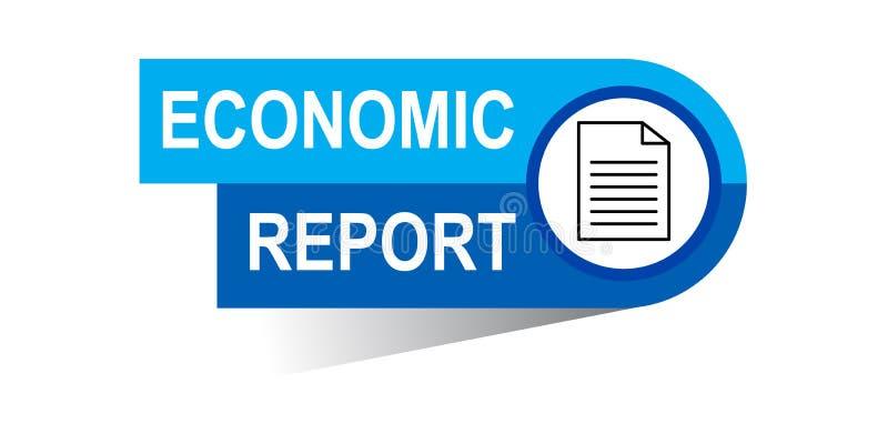 Bandeira econômica do relatório ilustração royalty free
