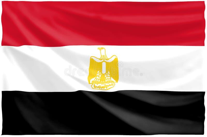 Bandeira egípcia ilustração do vetor