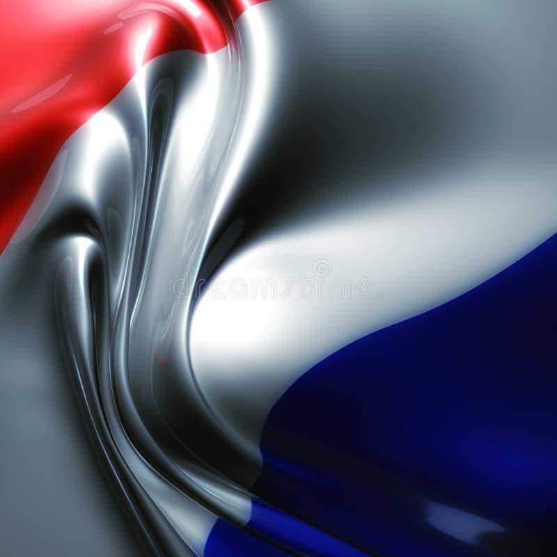 Bandeira elegante de seda de france ilustração do vetor