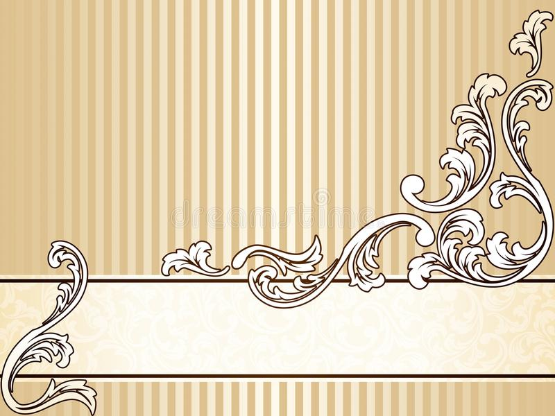 Bandeira elegante do sepia do vintage, horizontal ilustração stock