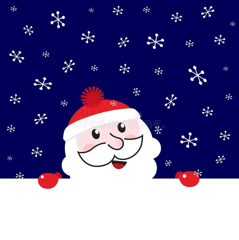 Bandeira em branco retro de Santa do Natal ilustração do vetor