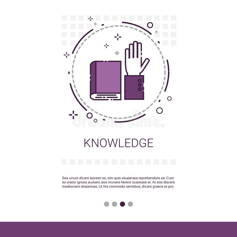 Bandeira em linha da educação do Elearning do conhecimento com espaço da cópia ilustração royalty free