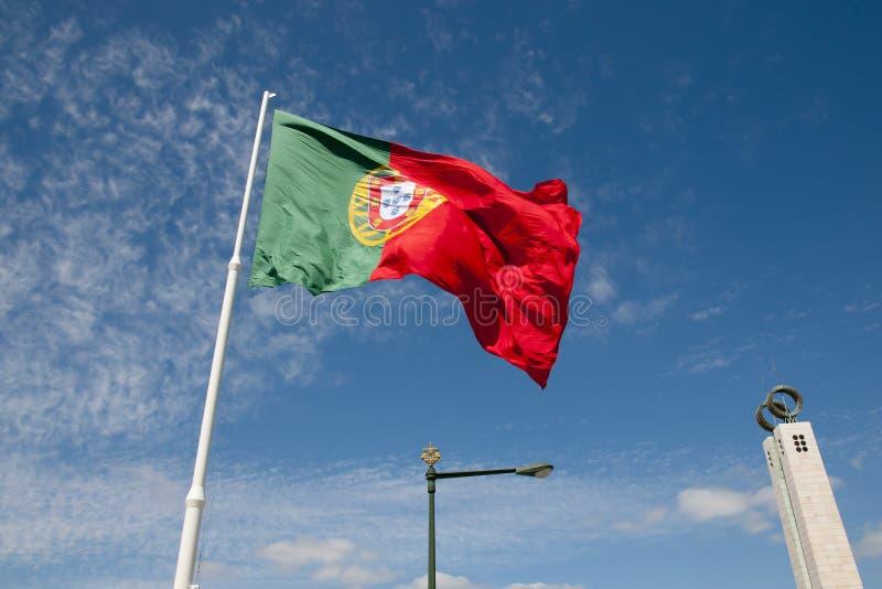 Bandeira em Parque Eduardo VII - Lisboa - Portugal fotografia de stock royalty free