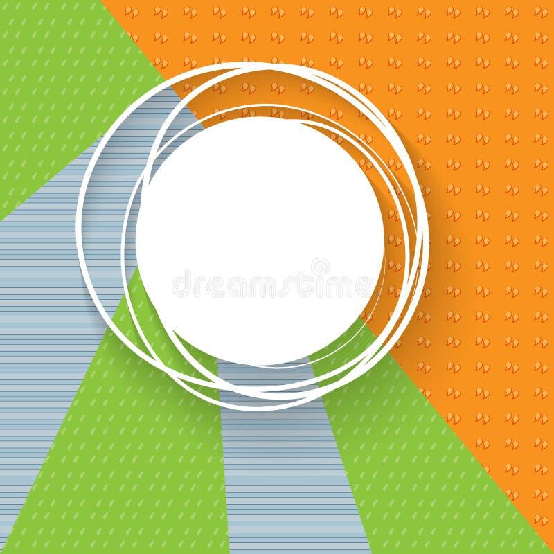 Bandeira em um fundo dos triângulos dos testes padrões Bandeiras abstratas para anunciar Bandeiras geotérmicas criativas Elemento ilustração stock