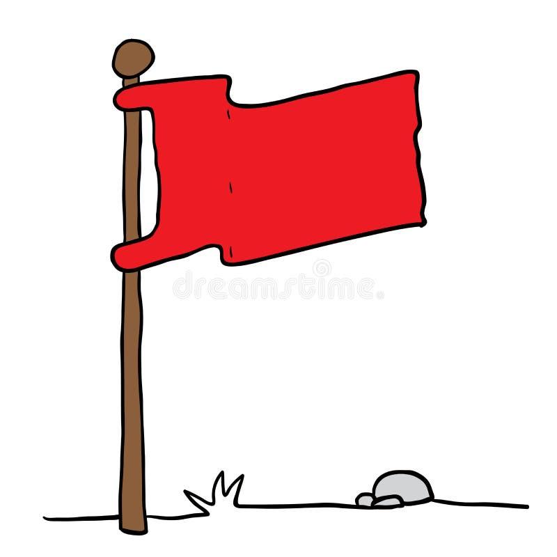 Bandeira em um polo ilustração do vetor