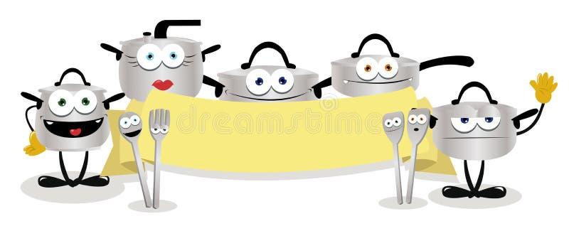 Bandeira engraçada dos potenciômetros ilustração royalty free