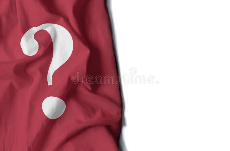 Bandeira enrugada ponto de interrogação, espaço para o texto imagens de stock royalty free